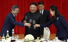 Kim recibe en casa a su homólogo del Sur