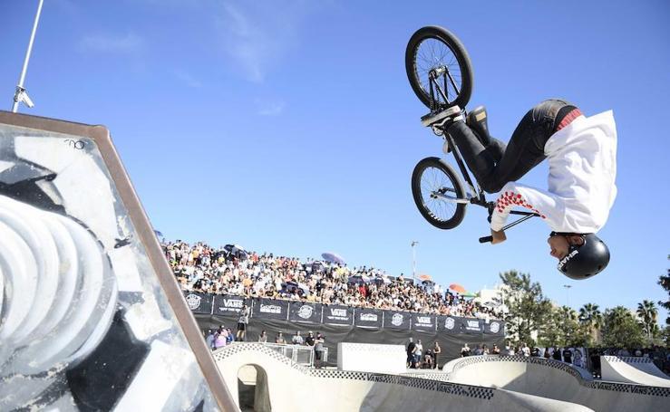 Lo mejor de los 'riders' de la Vans BMX Pro Cup en Málaga