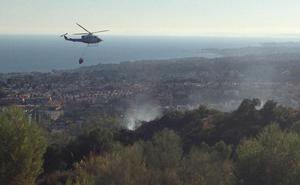 Controlado el incendio forestal en paraje de La Montúa de Marbella