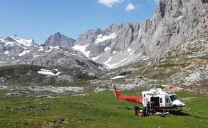 Una senderista malagueña, rescatada en los Picos de Europa