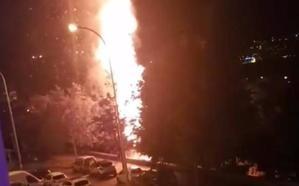 Un pequeño incendio en el parque Verano Azul vuelve a desatar la alarma en Nerja