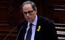 Torra presenta su hoja de ruta a pesar del bloqueo del Parlamento catalán
