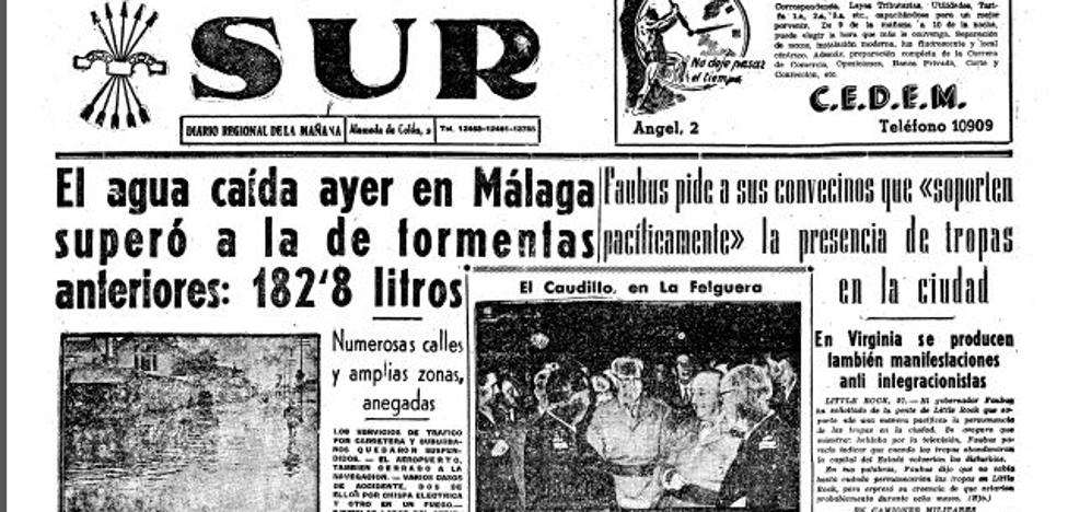 Así fue el día más lluvioso de la historia en Málaga: hoy se cumplen 61 años