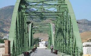 El puente de hierro de Cártama brillará de nuevo