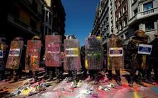 En libertad los seis detenidos ayer por actuar contra los Mossos en Barcelona