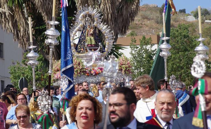 Procesión de la Virgen de la Cabeza en la barriada Palma-Palmilla de Málaga
