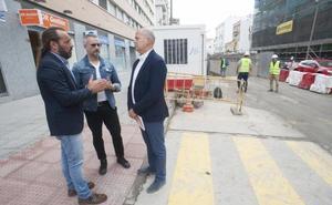Ciudadanos exige más ayudas a los comerciantes afectados por las obras del metro en El Perchel