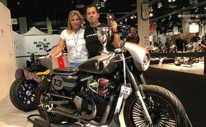 El fabricante veleño de motos customizadas, subcampeón del mundo con su diseño 'Speedster'