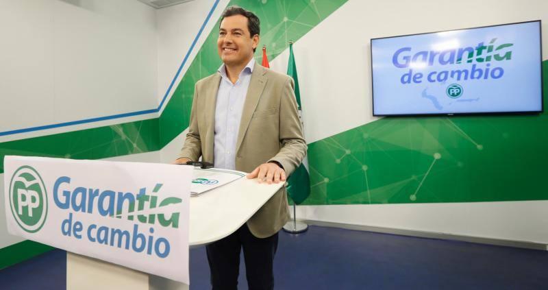 Juanma Moreno se presenta como «la única garantía de cambio» en Andalucía
