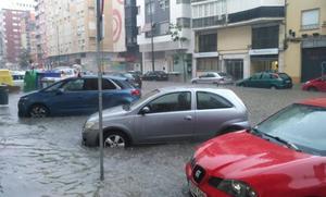 Málaga, en aviso amarillo por fuertes lluvias hasta las 16.00