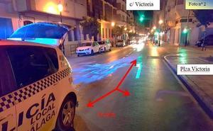 Detienen a un hombre que derramó cuatro litros de aceite en la calle Victoria «a ver si la gente se mataba»