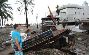 El lunes arrancan las obras de urgencia en las zonas afectadas por el temporal en Marbella