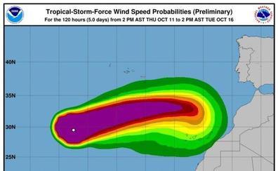 Aemet emite un aviso especial sobre el huracán 'Leslie' y su posible incidencia en España