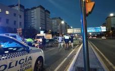 Un conductor se da a la fuga tras causar un accidente múltiple en la avenida Blas Infante