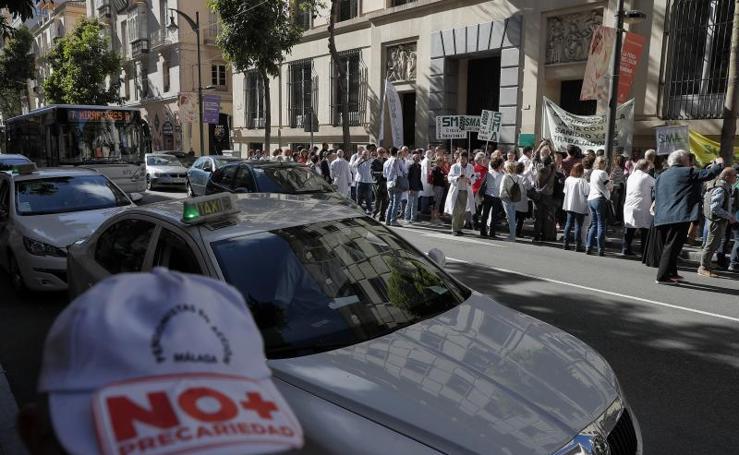 La huelga de médicos de familia y pediatras de atención primaria de la provincia de Málaga de este lunes