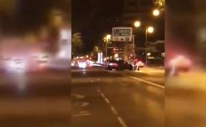 Se busca en Madrid a un conductor temerario