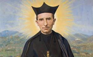 Instalan en la Catedral de Málaga el lienzo con la imagen del Padre Arnáiz que se conocerá durante la beatificación