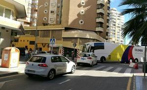 Malagueta: atascos por los desvíos de las obras