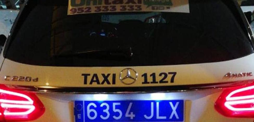¿Por qué los taxis de Málaga empiezan a llevar matrículas azules?