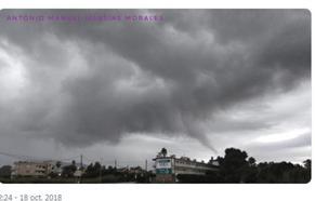 Un tornado sobrevuela Torremolinos sin consecuencias