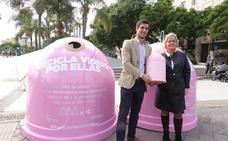 Campaña 'Recicla vidrio por ellas', para recaudar fondos para la lucha contra el cáncer de mama
