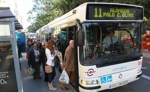 Cambios en las paradas de autobús de la Alameda Principal por obras