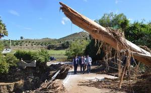 Estiman en tres millones de euros los daños causados en Coín por las lluvias