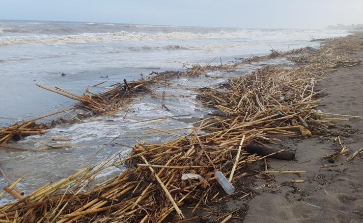 El temporal en las playas de Málaga capital