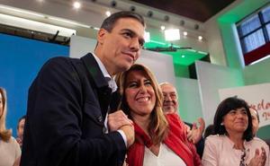 Pedro Sánchez anuncia un plan especial de empleo para Andalucía en la proclamación de Susana Díaz como candidata