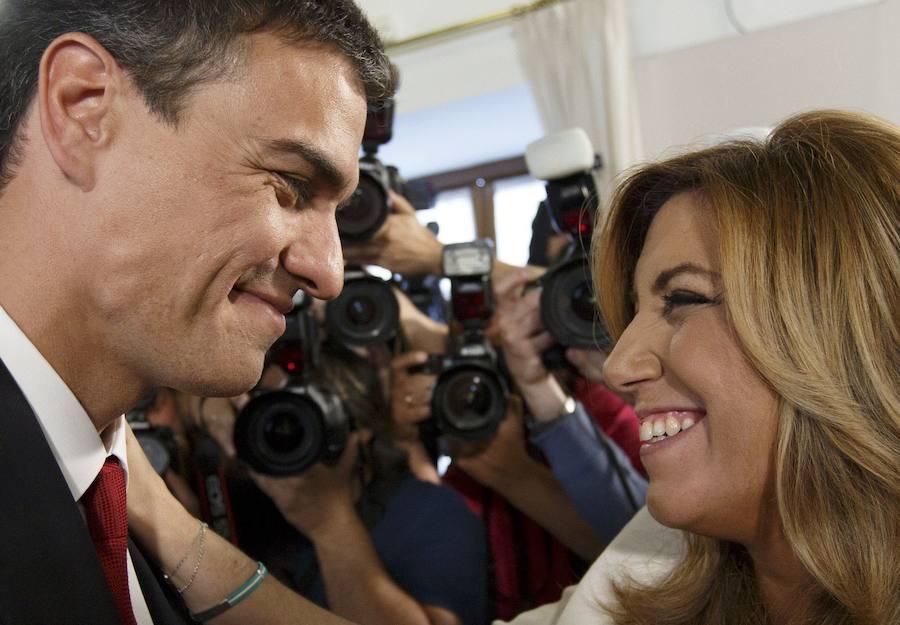 Susana Díaz, candidata del PSOE-A a la reelección como jefa del Ejecutivo