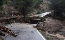 Se hunde el puente de Bobastro, uno de los accesos al Caminito del Rey