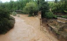 La lluvia se lleva por delante el muro de los Baños Árabes de Ronda, los mejor conservados de la Península