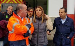 Susana Díaz se desplaza a los municipios más dañados por las precipitaciones