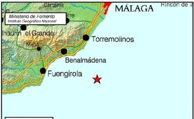 Registrado un terremoto de 3,4 grados en Torremolinos
