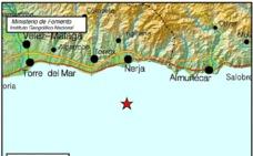 Registrado un terremoto de 2,6 grados en Nerja