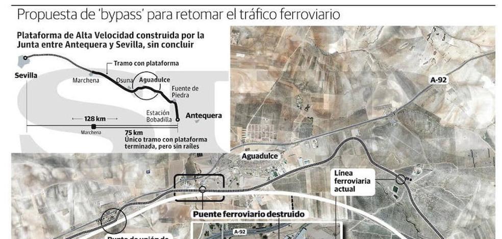 ADIF quiere la plataforma del AVE de la Junta para recuperar la vía ferroviaria a Sevilla