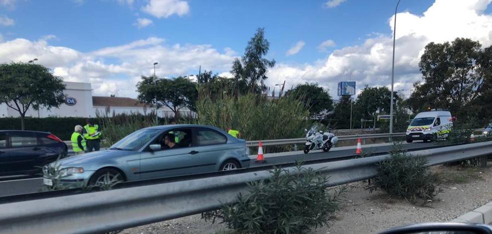 Una colisión múltiple de cuatro coches provoca retenciones de varios kilómetros a la altura de Plaza Mayor