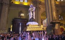 La Virgen del Carmen de El Palo se reencuentra con los fieles en el rosario de las hermandades de gloria