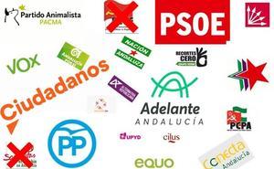 Conoce la lista de cada candidatura a las elecciones andaluzas por Málaga