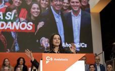 Inés Arrimadas en Málaga: «Toda España está pendiente de Andalucía»