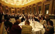 La cena organizada por Prensa Malagueña en la WTM 2018