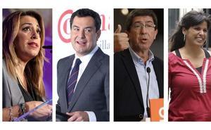 Los partidos acuerdan dos debates entre los cuatro candidatos en Canal Sur y TVE