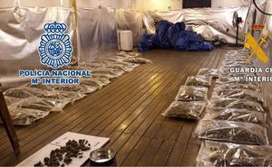 Cae en Alhaurín el Grande un grupo dedicado al cultivo y venta de marihuana a gran escala
