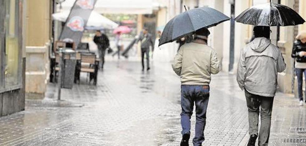 Aemet activa el aviso amarillo por lluvias este miércoles en Málaga