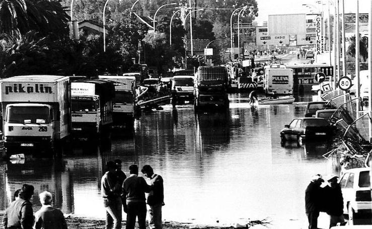 Así fueron las terribles inundaciones de 1989 en Málaga
