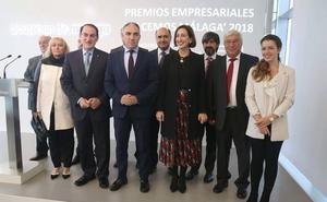 La CEM y Diputación premian la trayectoria empresarial de Comercial del Sur, Almensur, Ebury y Sancho Melero