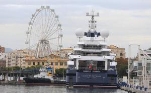 El megayate del confundador de Microsoft regresa al Puerto de Málaga
