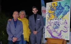 Un boquerón mitológico, protagonista del cartel que promocionará el Carnaval de Málaga 2019