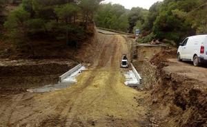 Reabre al tráfico la carretera de acceso a Bobastro tras las inundaciones