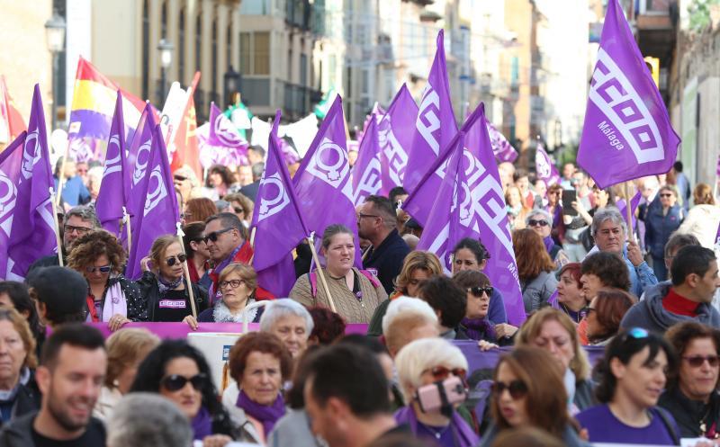 Unas 5.000 personas se manifiestan en Málaga para visibilizar la lacra de la violencia de género